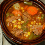 Leftover Greek Beef Vegetable Soup