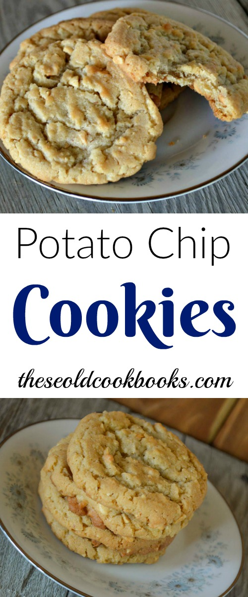 Salty and sweet go together perfectly in these crispy Potato Chip Cookies featuring your choice of nuts - and you guessed it - potato chips.