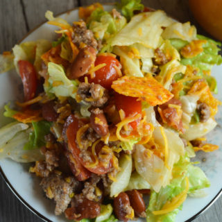 Taco Salad with Homemade Dressing