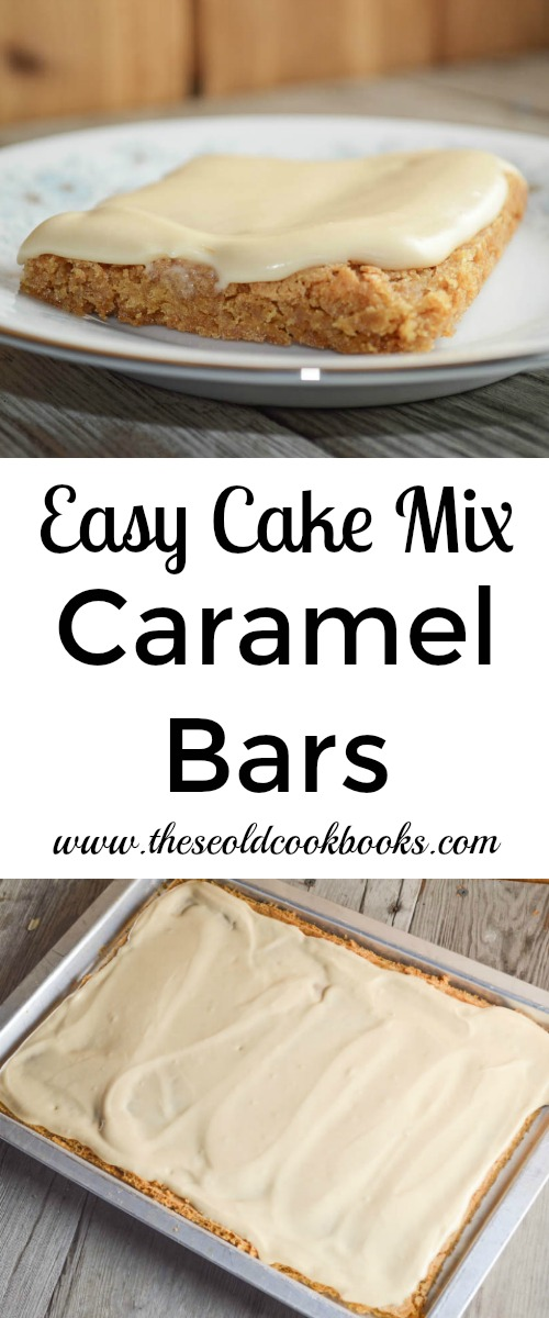caramel cake mix easy cake mix caramel bars recipe with rich caramel frosting 2450