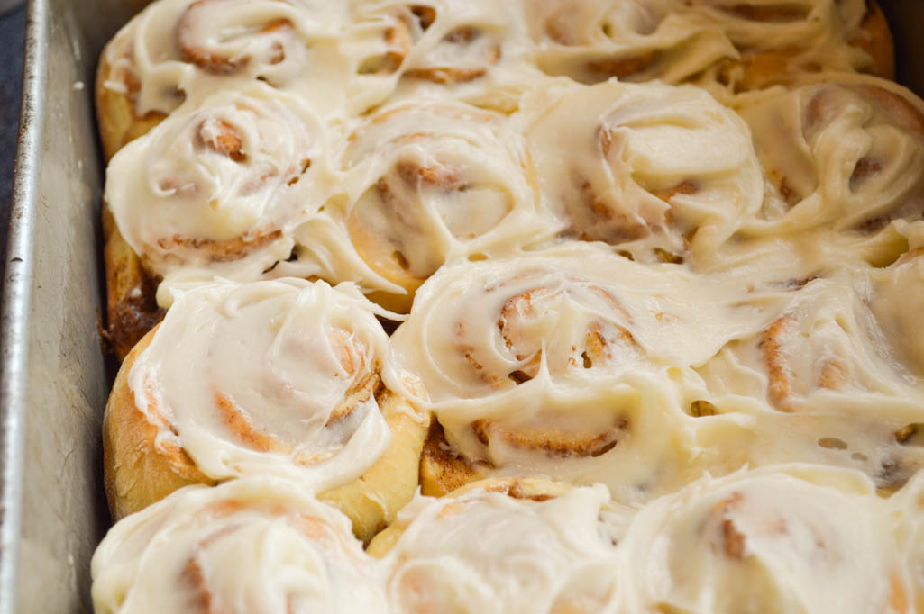 For a homemade yeast roll, these Cake Mix Cinnamon Rolls are relatively quick to make and the result is a super soft cinnamon roll.