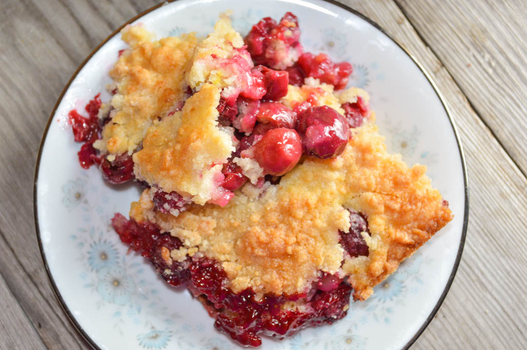 The best part of this Easy Cherry Crisp, aside from the flavor, is that you can make it with a handful of staple ingredients.