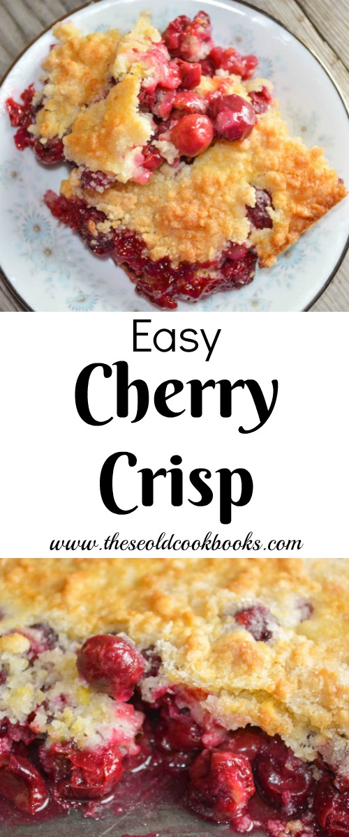 Easy Cherry Crisp Recipe Cake Mix