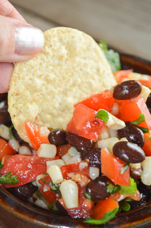 This Black Bean Caviar Salsa is easy to make and perfect as a party dip with tortilla chips. If you want to get fancy, serve it over baked or grilled fish.