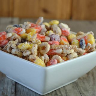White Chocolate Snack Mix with Candy Corn