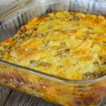 This Egg and Sausage Breakfast Casserole can easily be doubled to feed a crowd - or a hungry family - and is perfect served with a side of fruit.