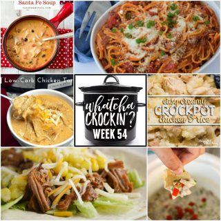 This week's Whatcha Crockin' crock pot recipes include Slow Cooker Chicken Enchilada Soup, Sausage Dip, Creamy Crock Pot Chicken and Rice, Pressure Cooker Taco Beef, Crock Pot Low-Carb Chicken Tortilla Soup, Easy Thai Pork with Peanut Sauce, Instant Pot Spaghetti and Crock Pot Chicken Santa Fe Soup.