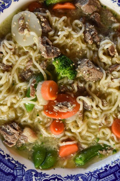 Instant Pot Beef Ramen Bowls Recipe with Stew Meat, Ramen ...