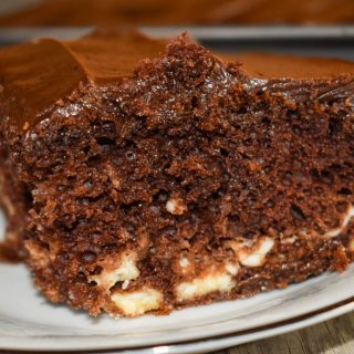Grandma's Fanciful Double Chocolate Fudge Cake