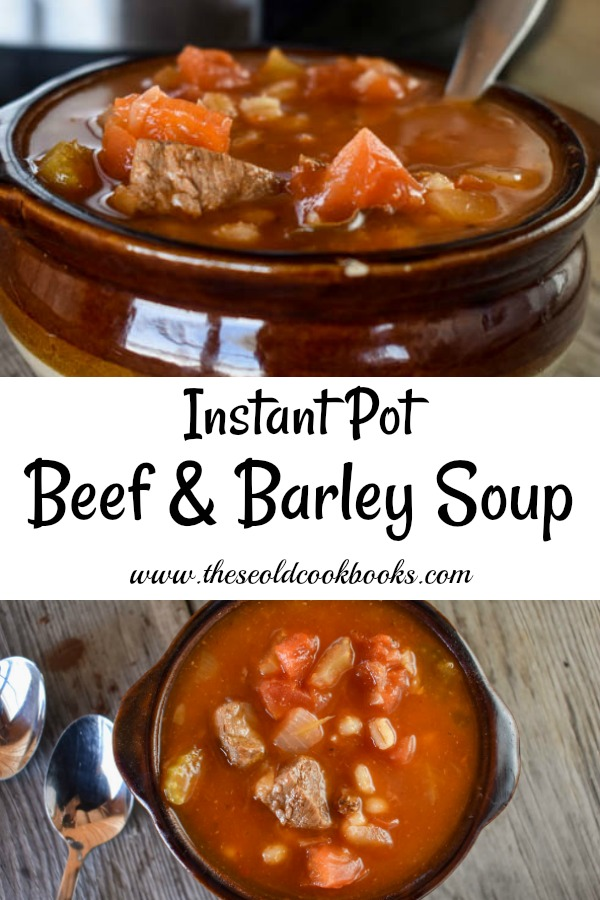 Instant Pot Beef and Barley Soup is a recipe that allows you to have a warm, hearty meal on the table quickly. Electric pressure cookers are a great way to save time fixing meals that usually take hours in the oven or crock pot.