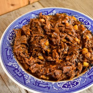 Instant Pot Shredded Beef Barbecue