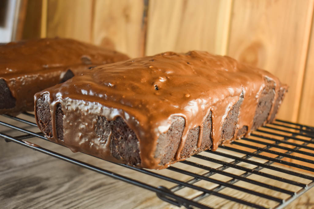 This Chocolate Zucchini Bread with Mocha Glaze recipe features coffee in both the batter and the glaze to crank up the chocolate flavor.