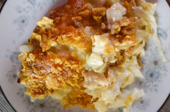 Old-Fashioned Cheesy Cabbage Casserole is a great side dish for any family gathering.