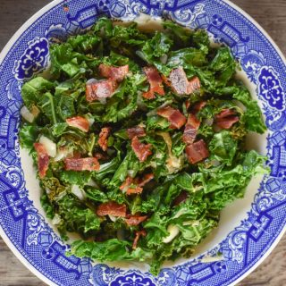 Tangy Wilted Kale and Bacon