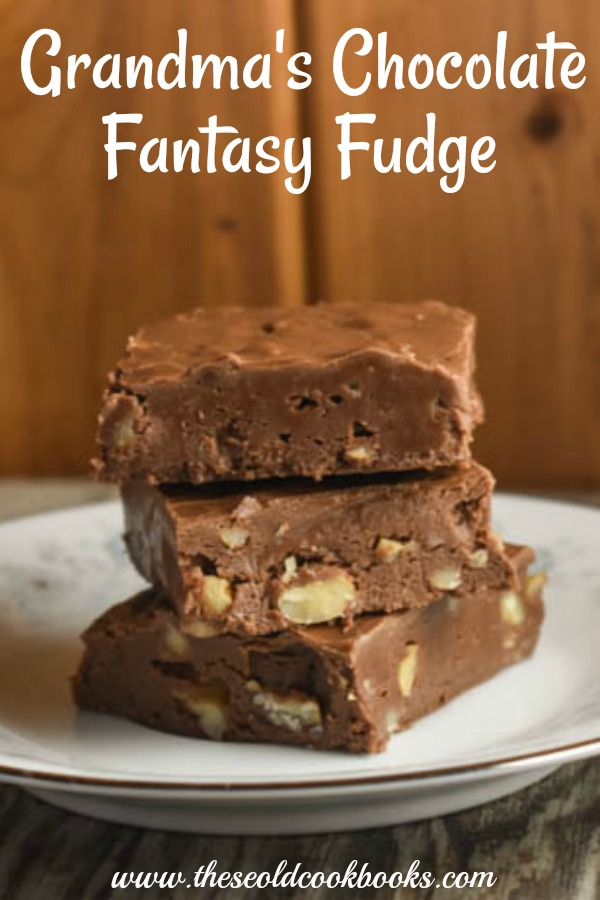 Grandma's Chocolate Fantasy Fudge is a rich, decadent treat that is quick and easy to make.