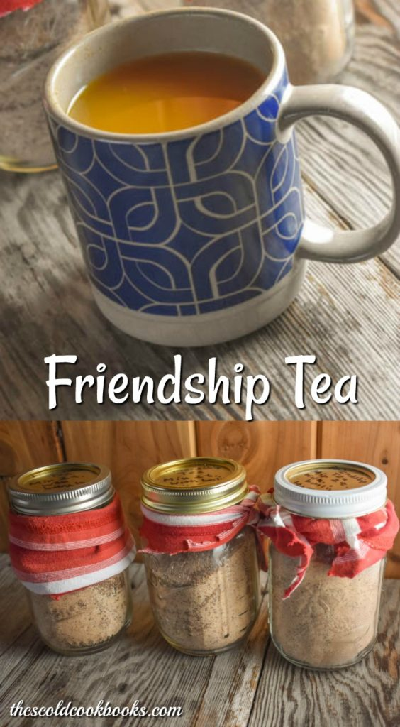 Make up a batch of this Friendship Tea to have on hand when guests drop in or to give as the perfect homemade gift with a plate of cookies.