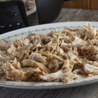 Crock Pot 20 Clove Chicken is exactly what the title implies...chicken breasts cooked with 20 cloves of garlic and a handful of other ingredients.