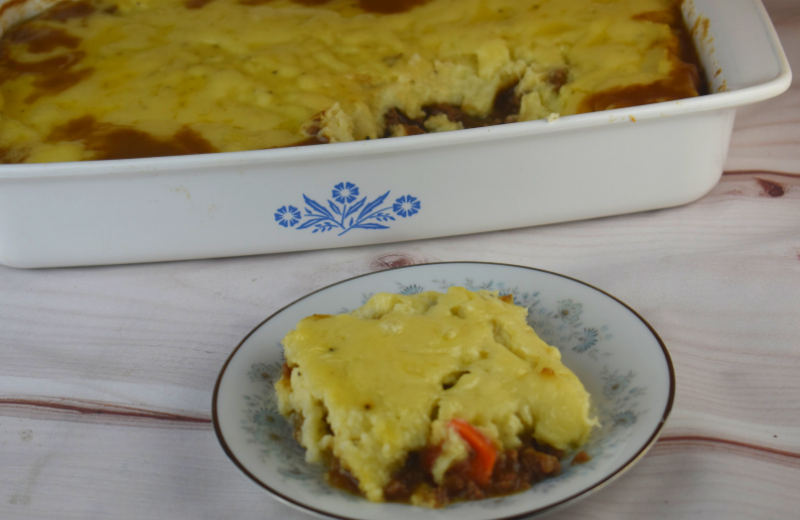 French Onion Shepherd's Pie is a new spin on an old family favorite. It takes the classic ground beef shepherd's pie and jazzes it up with condensed french onion soup. The results is a savory, delicious dinner the whole family will love.