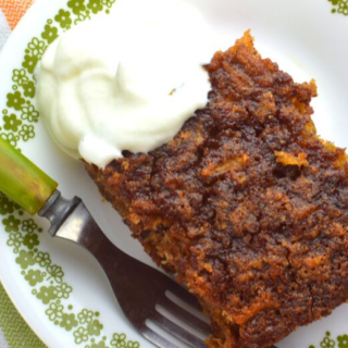 Old Fashioned Apple Pudding cake is a easy, moist cinnamon apple cake that tastes great any time of day and any day of the week. The secret to this moist cake is grated apples, and the amazing flavor comes from cinnamon, nutmeg and chopped nuts.