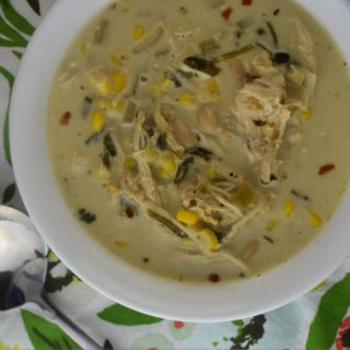 Creamy Chicken Chili is a versatile recipe that can be made on the stove top or in the Crock Pot.