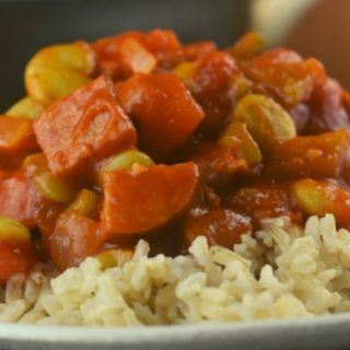 Bring home the flavors of the bayou with Smoked Sausage Stew. This saucy skillet dinner is served over rice and serves a crowd.