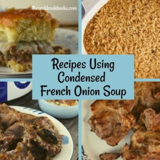 Condensed French Onion Soup is a great ingredient to add lots of flavor to recipes.